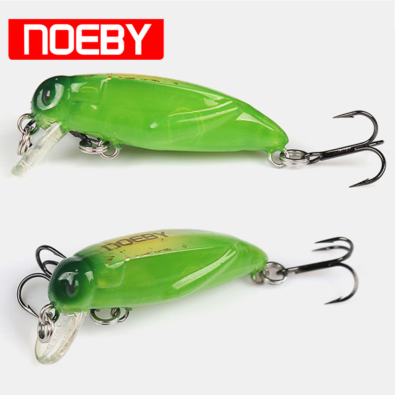 2017 NOEBY NBL9158 Fishing Lure 37mm 2g Insect Bait Sinking0-0.3m With France VMC Hooks De Pesca Leurre Souple Broch Peche noeby nbl9062 fishing lures 66g 140mm pencil sinking leurre peche mer brochet hard fishing bait