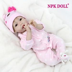 NPKDOLL Handmade Reborn Dolls 55 CM Realistic Soft Silicone Vinyl Baby Dolls BeBe Reborn brinquedos For COLLECTION