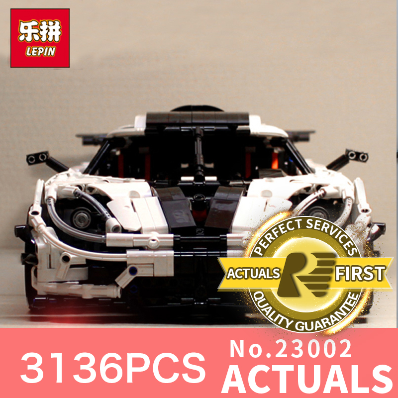 lepin 23002 technic series 3136Pcs car bricks compatible with LegoINGl 42056 educational model building kits toys boys blocks lepin technic series lepin 21004 ferrarie f40 sports car model building blocks kits bricks toys compatible with 10248