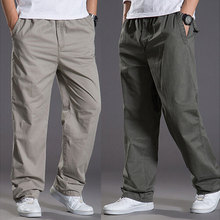 BAIJOE 2017 new spring casual Pants men cargo pants cotton loose trousers mens pants overalls fashion super large XL 6XL