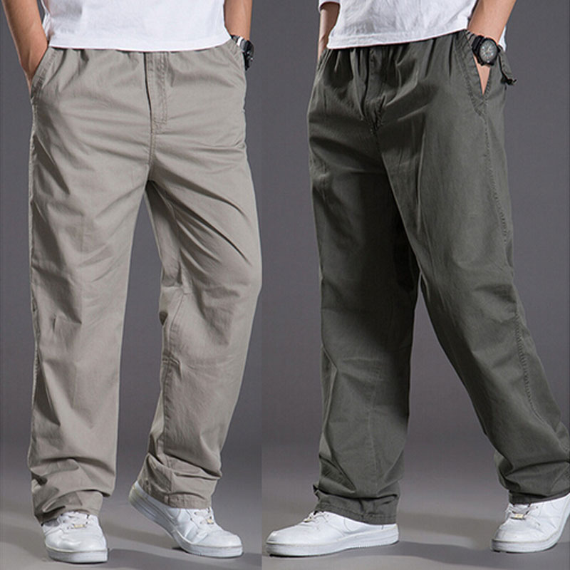 2017 New Men's Embroidery Casual Trousers Khaki Pants Straight Fit Totem Phoenix