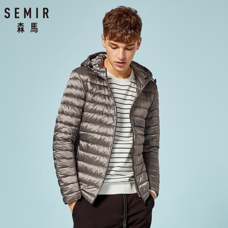 SEMIR Winter Jacket Men Warm Padded Hooded Overcoat Casual Parka Male Coat Hoodies