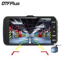 OTFPlus Car DVR 4.0 inch IPS Screen Dual Lens HD 1080P Night Vision G-sensor dash cam free shipping