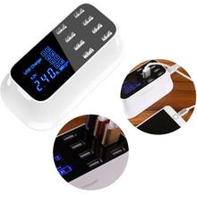 Intelligent usb mobile phone charger 8-port USB LCD adapter universal US/UK/EU Wall Charger Australian regulations