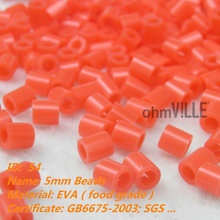 2016 Sale Belenes Navidad 5mm Perler Beads ~ Scarlet Id:54 Hama Fused Educational Toys Guaranteed 100% Quality + Free Shipping(China)