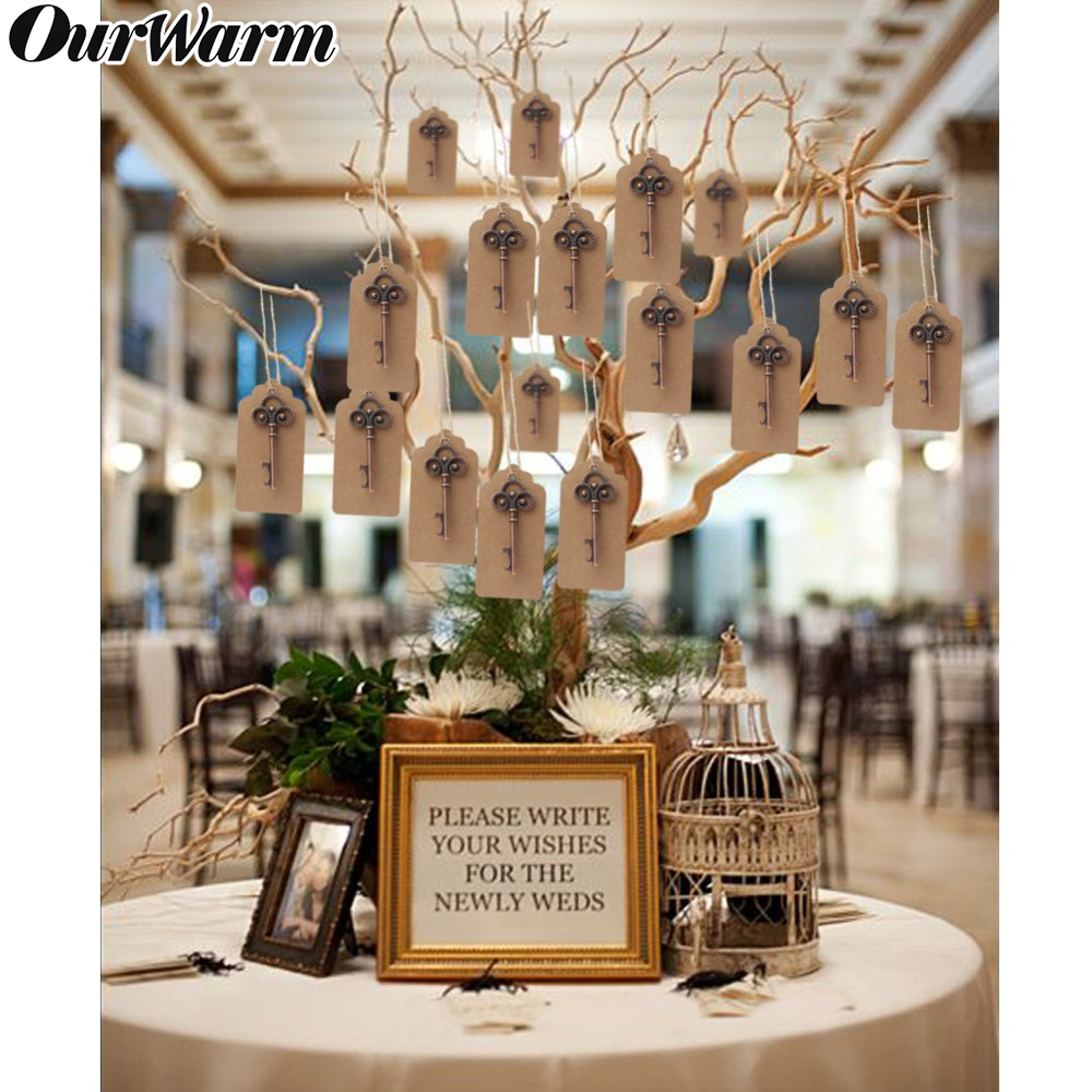 US $9.9 9% OFFOurWarm Wedding Birthday Party Decoration Souvenirs Guest  Gift Vintage Skeleton Keychain Bottle Opener with Tag Card Rustic NewParty