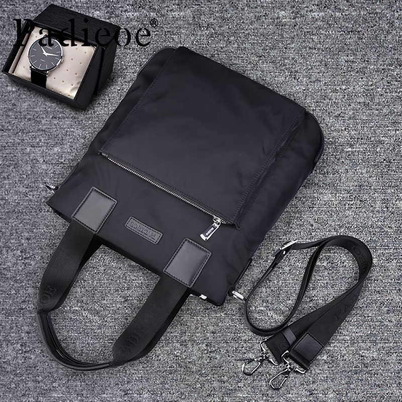 7354007280c7 ... Padieoe Для Мужчин s Водонепроницаемый сумка Повседневное нейлоновая  сумка Курьерские сумки Бизнес сумки Портфели для мужчин nb160749