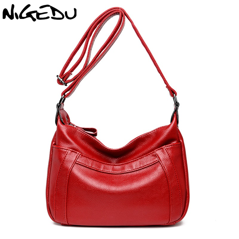 NIGEDU Brand women messenger bag mother handbag High quality artificial leather crossbody bags for women's shoulder bag bolsa vogue star women bag for women messenger bags bolsa feminina women s pouch brand handbag ladies high quality girl s bag yb40 422