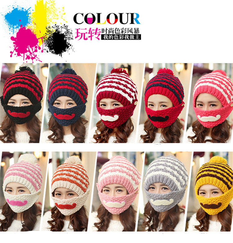 Free Shipping 1 Set Fashion 2016 Autumn And Winter Hats Warm Knitting Ball Cap Casual Outdoor Caps For Women WCXD004  free shipping 1 set 3 pcs fashion 2016 autumn and winter hats warm knitting ball cap casual outdoor caps for women wcxd009