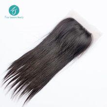 Malaysian Virgin Hair Top Closure Straight Hair 4X4 Swiss Lace Closure 130 density Fast Shipping Malaysian Straight Hair Closure