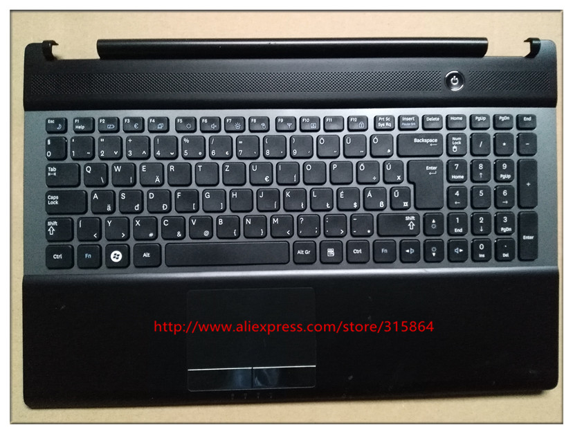 цены Hungary layout new laptop keyboard with touchpad palmrest for SAMSUNG NP RC530 RC528 BA75-03202Q