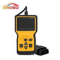 V310 OBDII EOBD Auto Code Reader 6 Languages Automobile Diagnostic Scanner For All OBD2 Protocols Cars LCD Display free ship