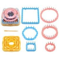 Practical Little Daisy Flower Shape Knitting Loom Knitter Weaver Kit with Needle