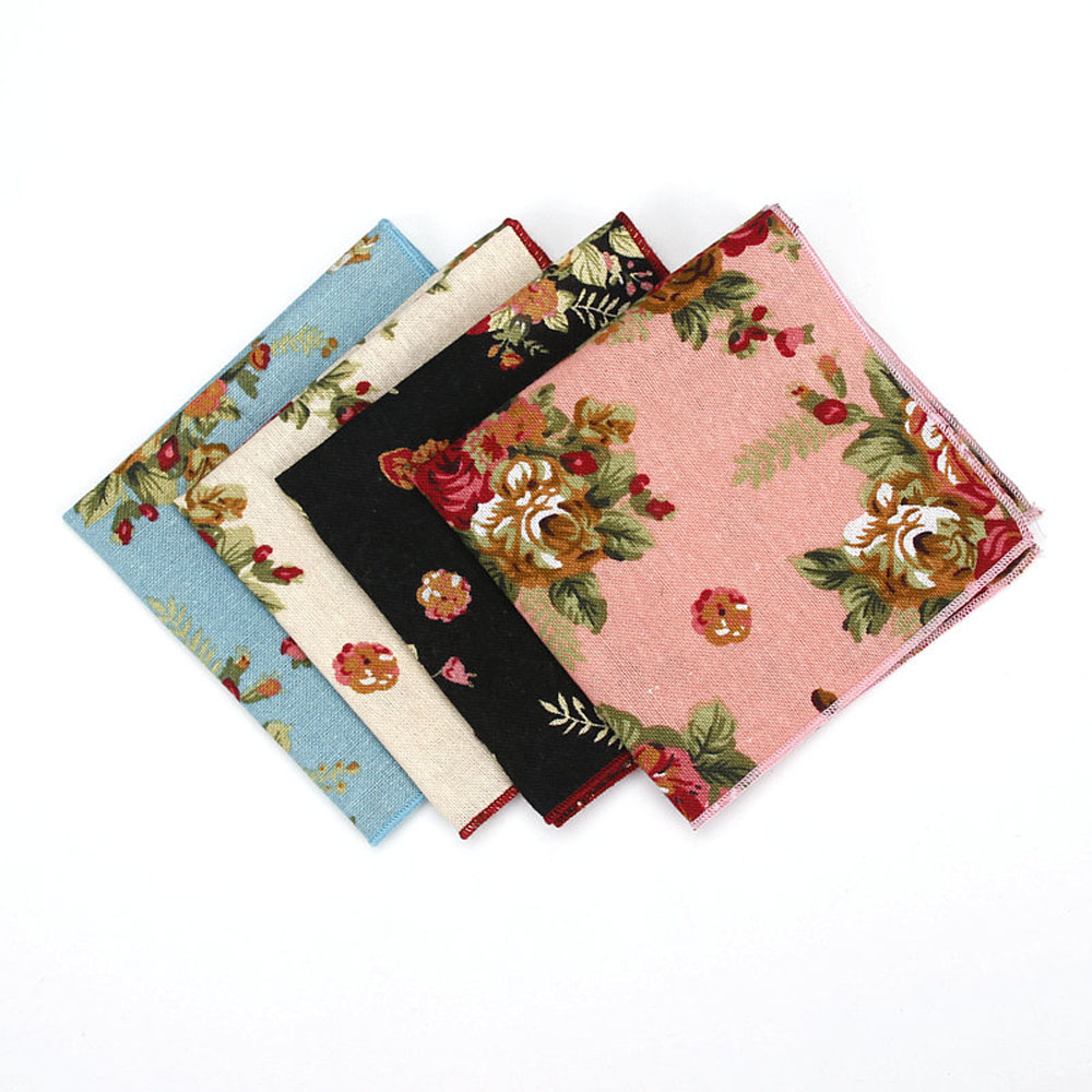 Men's Floral Flower Handkerchief Wedding Party High Grade Pocket Square YFTIE0101