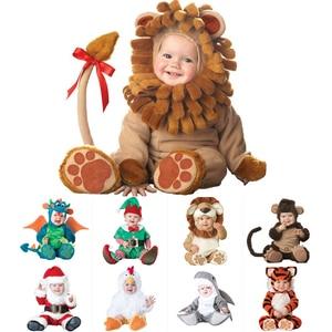 Image 2 - 2020 카니발 할로윈 의상 아기 소년 소녀 의상 동물의 코스프레 rompers 점프 슈트 유아 유아 의류