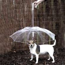 Pet Umbrellas hyena artifact Teddy bear dog pet Rain Gear lovely pet supplies waterproof cat dog umbrella free shipping sale(China)