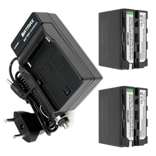 2-PACK 7200 мАч NP-F960 NP-F970 Аккумулятор + Автомобильное Зарядное Устройство и Power Plug Адаптер для Sony NP-F770 NP-F750 F960 F970