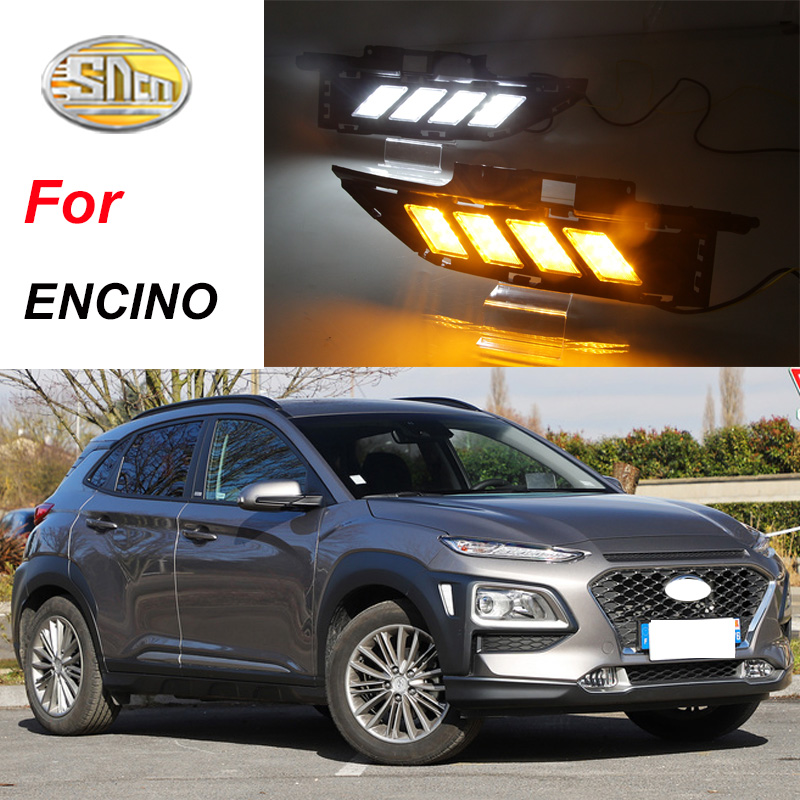 For Hyundai Kona 2018 2019 Chrome Front Fog Light Foglight: For Hyundai ENCINO Kona 2018 2019 Daytime Running Lights