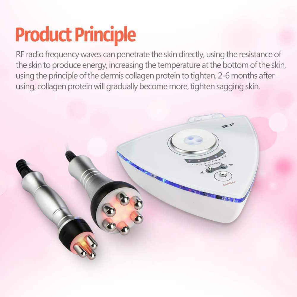 RF Radio Frequency Facial Machine Facial Device For Skin Rejuvenation Wrinkle Removal Skin Tightening Anti Aging Skin Care White