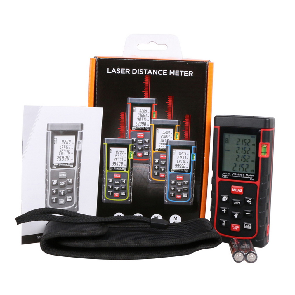 60M Mini Digital Handheld Laser Distance Meter Range Finder Measure Diastimeter Brand New sony fdr ax53 black