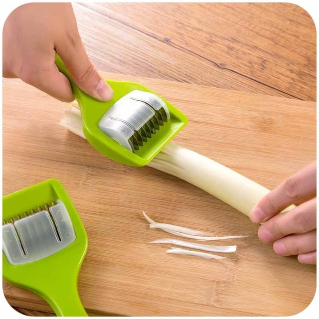 26e8825e2 1 unid inoxidable lámina cebolla verde chopper slicer ajo coriandro  cortador vegetal cocina Accesorios Herramientas caliente