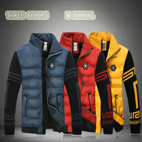 Winter New Men S Down Jacket Man Cotton Padded Clothes Coat Thick Warm Parkas Windproof White