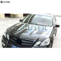 W212 Carbon Fiber Front Engine Hoods car engine bonnets For Mercedes Benz W212 E350 E300 lorinser style car body kit 10 13