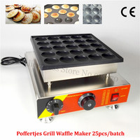 Dutch Poffertjes Grill Stainless Steel Mini Dutch Pancakes Waffle Machine Nonstick Cooking Surface 25pcs Holes 110V 220V