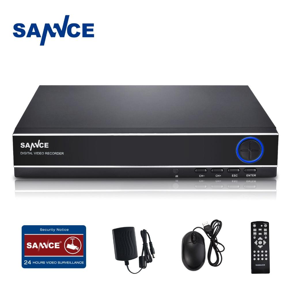 SANNCE CCTV 4 Channel DVR Recording HDMI 1080P P2P Standalone H.264 Hybrid dvr NVR Video Recorder for Surveillance Camera System sannce 8 channel 720p 1080n h 264 video recorder hdmi network cctv dvr 8ch for home security camera surveillance system kit