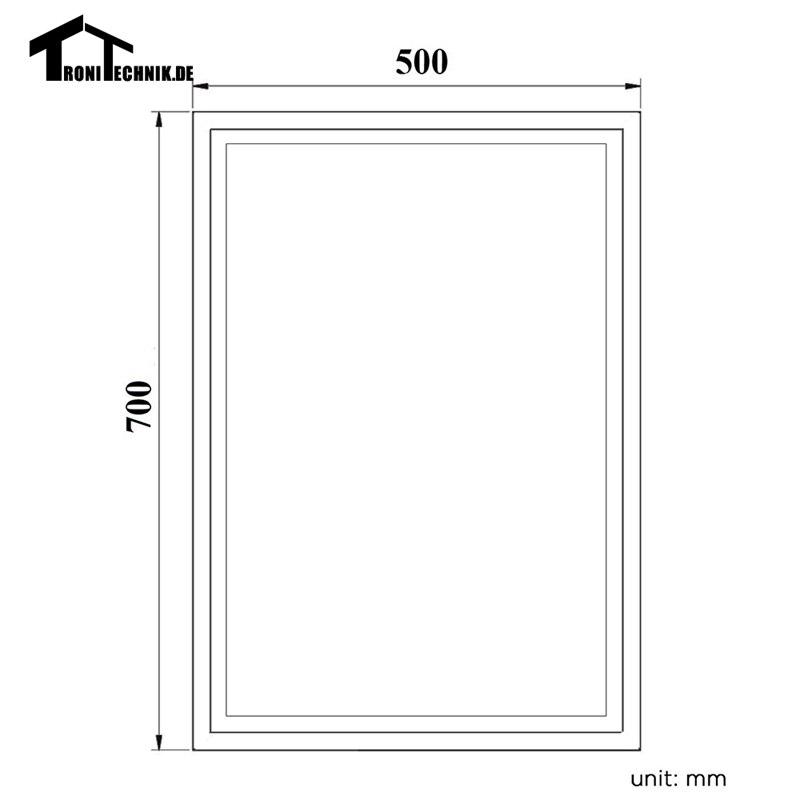 50x70 cm marco ILUMINADO espejo Bluetooth Pared espejo del baño en ...