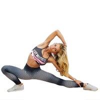 ارتفاع الخصر athleisure المرأة الرياضية نقطة الطباعة 3d harajuku مرونة البدنية jegging المرأة لونغ بانت رفع