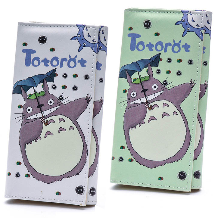 Women Wallets PU Leather Lady Handbags Cartoon Totoro Students Wallet Cards Holder Woman Clutch Hasp Coin Purse Girls Money Bags women wallets 6 colors good quality patent pu leather cute cats lady handbags woman clutch coin purse cards holder wallet bags