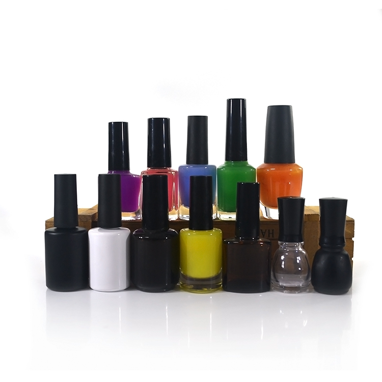 How To Empty A Nail Polish Bottle: Empty 10ml Ml Polish Bottles With White Black Lid Small
