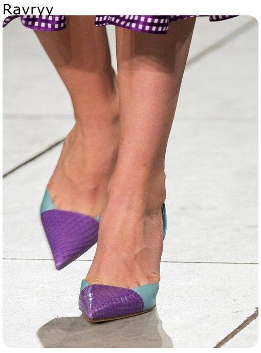 Hauts 2019 Femmes Couleur Tenue Sexy Fête Mélangée Épais Boucle Picture Sandales Chaussures Violet As De Talon Simples Pointu Cheville Pompes Talons Bout Femme XxtXFw