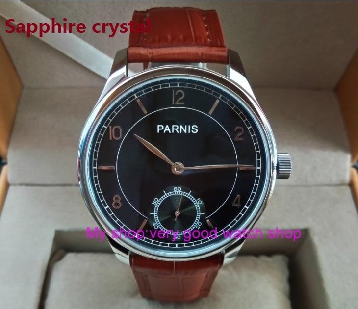Здесь продается  Sapphire Crystal 44mm PARNIS ST3621/6498 Mechanical Hand Wind movement Mechanical watches Gray dial men