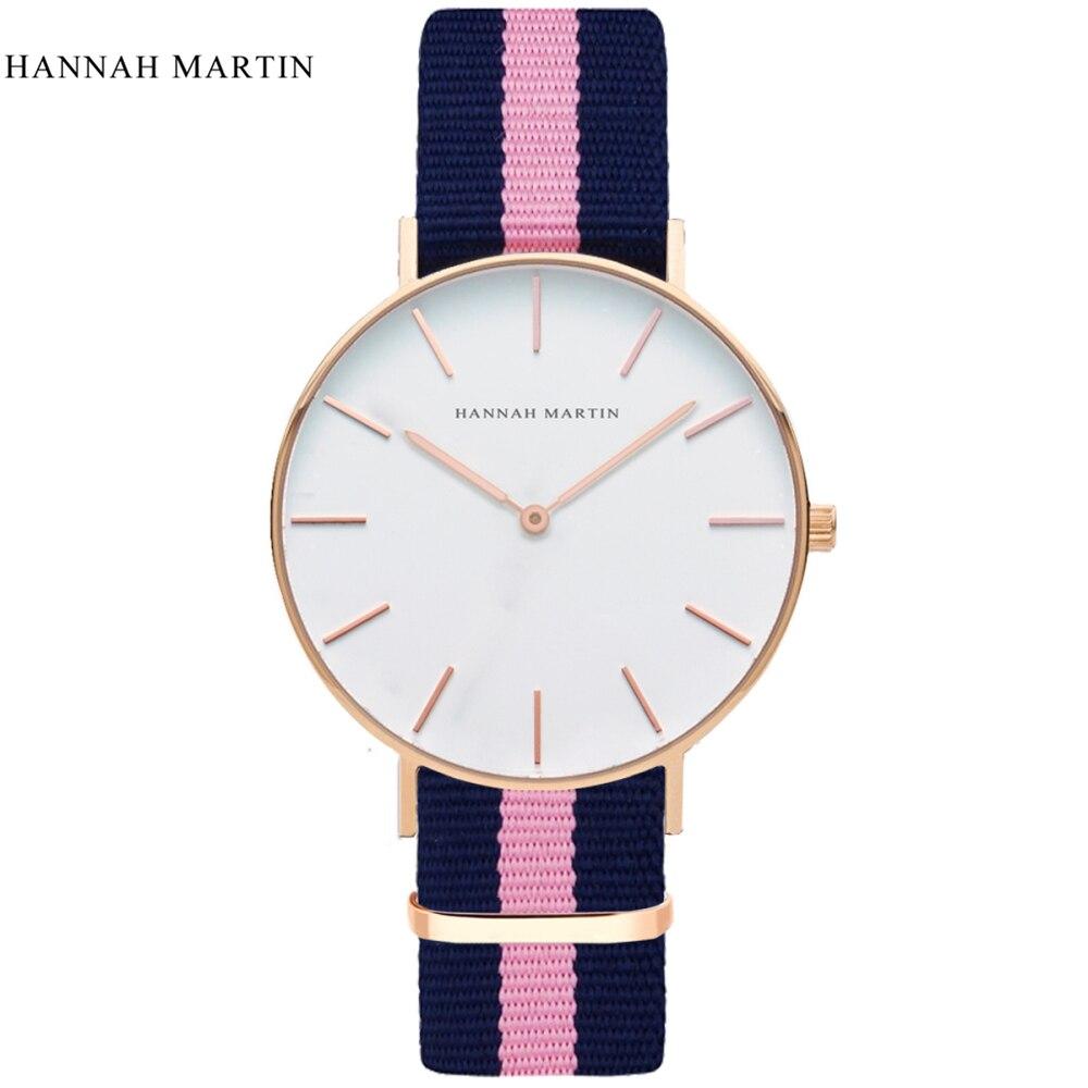 Luxury Brand Hannah Martin Watches Women Fashion Quartz Watch 2019 Unisex Watches Silver Lady Clock Men Horloge Orologi Donna