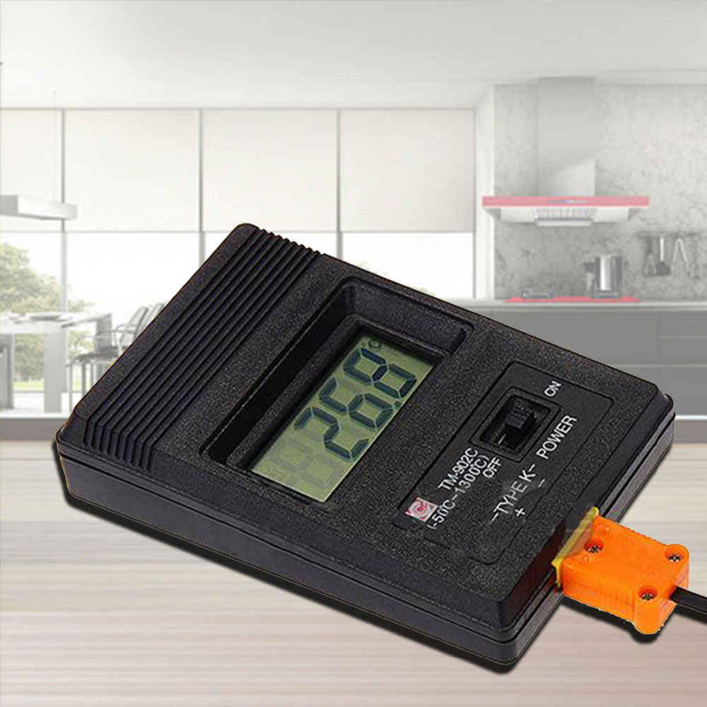 1pcs Rushed Lab Factory Use Real Industrial Lcd Digital Thermometer Thermodetector 750 Degree Centigrade and Thermocouple
