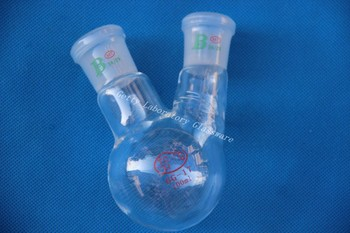 Kolba okrągłodenna, 2-szyi, 100 ml, ciężka ściana (szkło laboratoryjne)