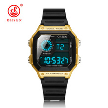 OHSEN Fashion Waterproof 50 Multifunction Military Women Mens Digital Watches Men Sport Electronic Wristwatch Relogio Masculino цена