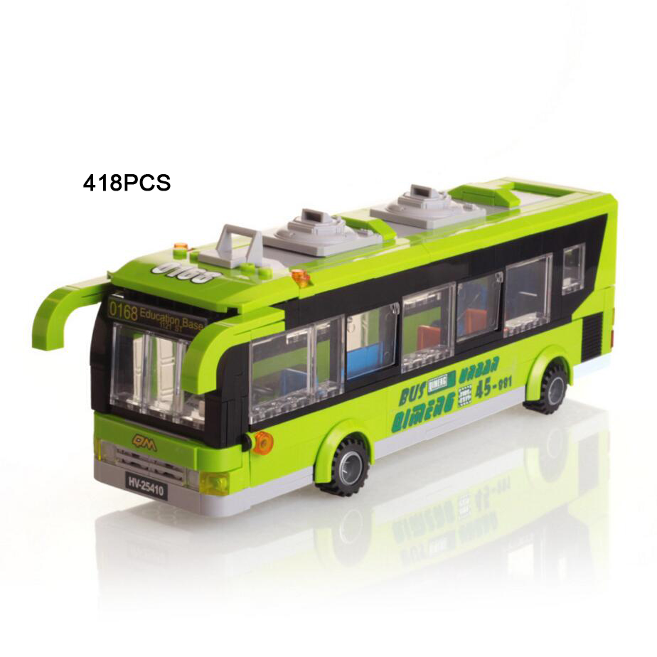 Hot city Vehicle bus stop building block model Passengers driver figures bricks educational toys for children gifts hot city series aviation private aircraft lepins building block crew passenger figures airplane cars bricks toys for kids gifts