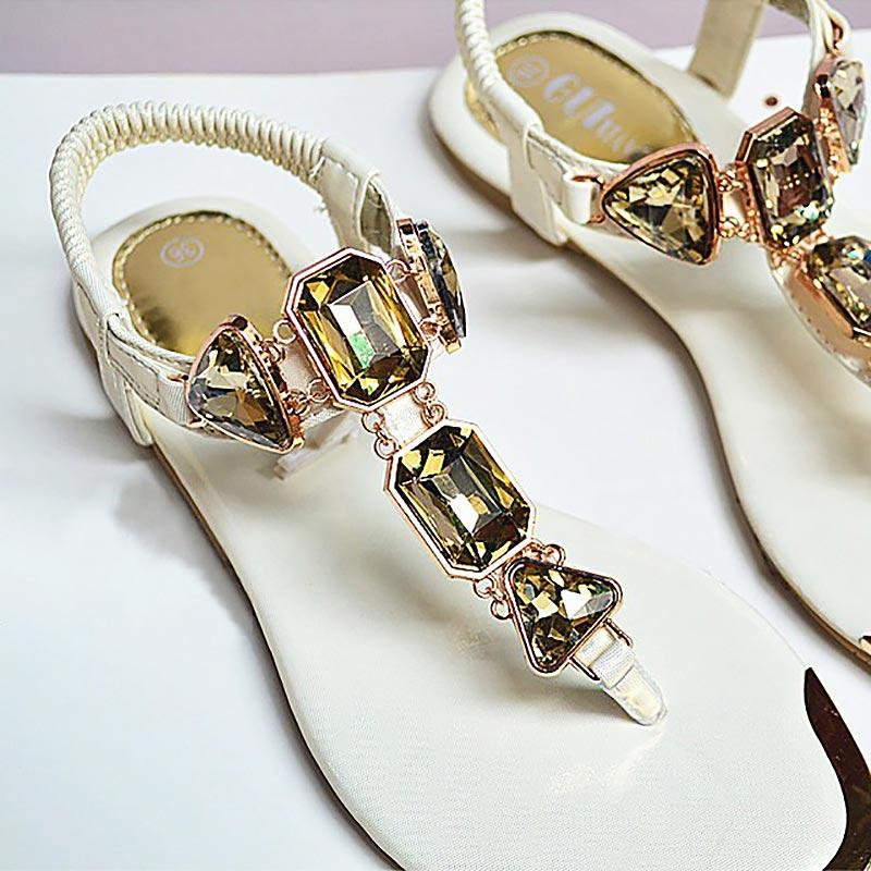 Woman Sandals 2019 fashion high quality Rhinestone women flip flops shoes ladies casual summer beach shoes