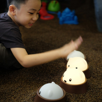 Bear rechargeable night light desk lamp for children's room decoration creative Reading learning lighting