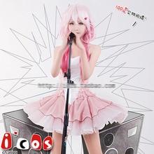 Anime Guilty Crown Inori Yuzuriha EGOIST Poster Dress Pink Feather Cosplay Hallowmas Guilty Crown Inori Yuzuriha Costume Dress