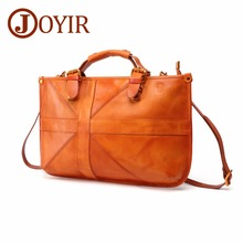 JOYIR Women Tote Bag Female Handbag Shoulder for Vintage Genuine Leather Crossbody Office Busniess Briefcase