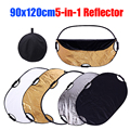 CY 90x120cm Free shipping Photography 5in1 Light Mulit Collapsible Portable Photo Reflector Studio Lighting Control photostudio