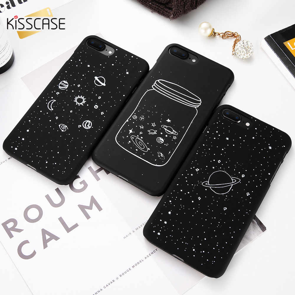 Kisscase Case Voor Iphone 6 6S Plus Case Luxe Black Hard Pc Case Voor Iphone 5 5S Se 7 8 Plus X Xs Max Xr Cover Fundas Capinhas