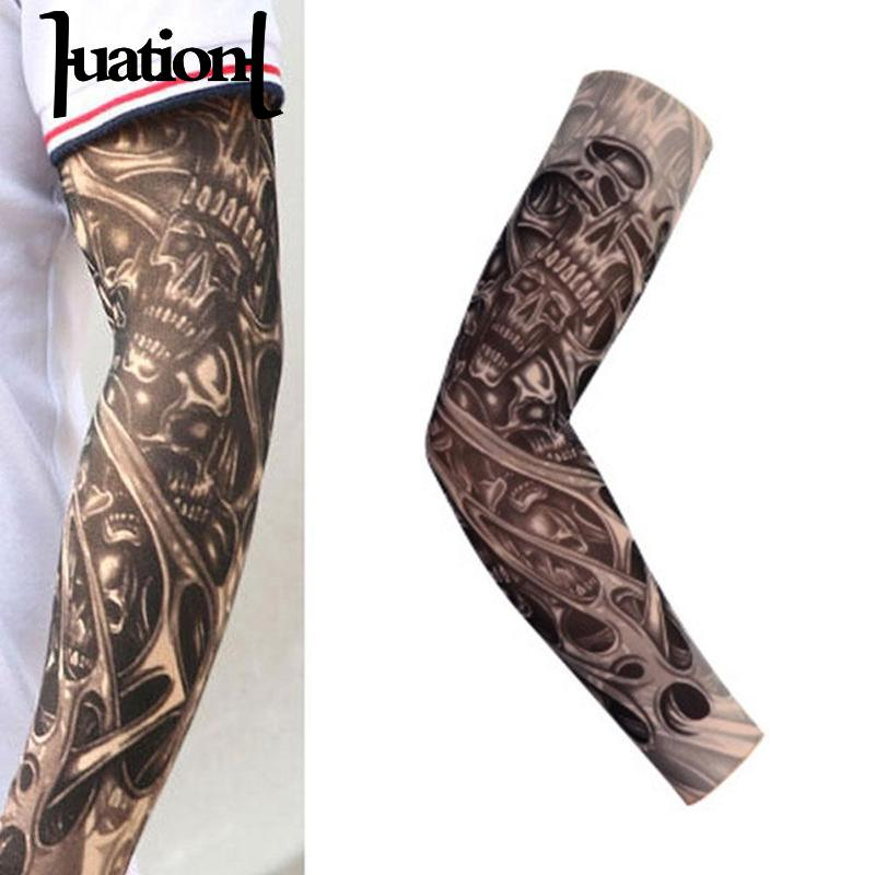 0f3077b6a78df Detail Feedback Questions about Huation 1PC Tattoo Sleeve Men Women Unisex  Stretchy Arm Warmers Breathable Quick dry Running Cycling Sunscreen Sleeves  Arms ...