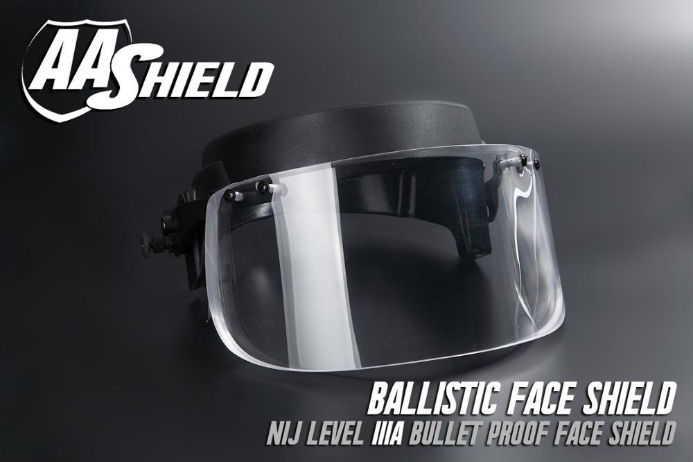 63ba825f AA Shield Ballistic Visor Face Bulletproof Glass Mask For Fast Helmet Body  Armor Mask Lvl IIIA 3A