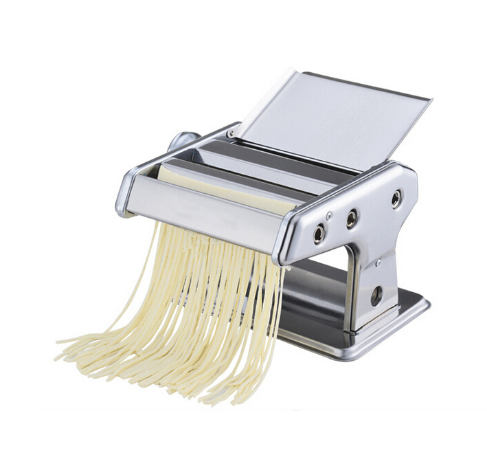 2017 Hot Stainless Steel Manual Noodle Press Household Pasta Making Machine Dough Roller Spaghetti Cutter jiqi household hand noddles pasta maker machine stainless steel manual noodle press making noodle cutting machine 0 5mm 2 5mm