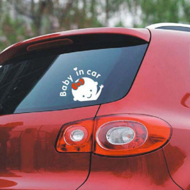 """""""Baby in car"""" Cute Rear Window Sticker"""